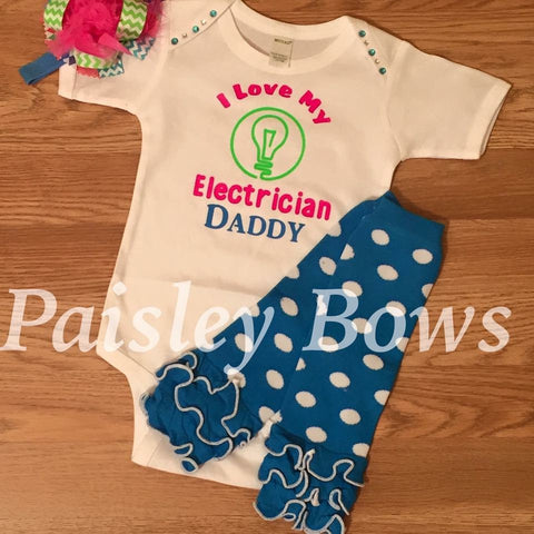 Electrician Daddy - Paisley Bows