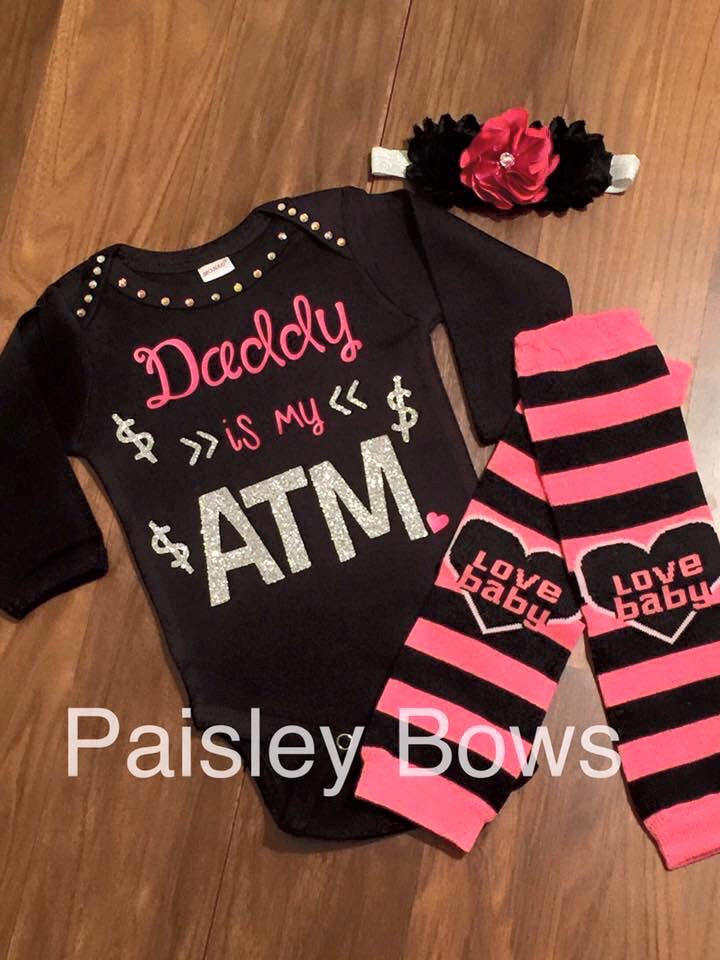 Daddy Is My ATM - Paisley Bows