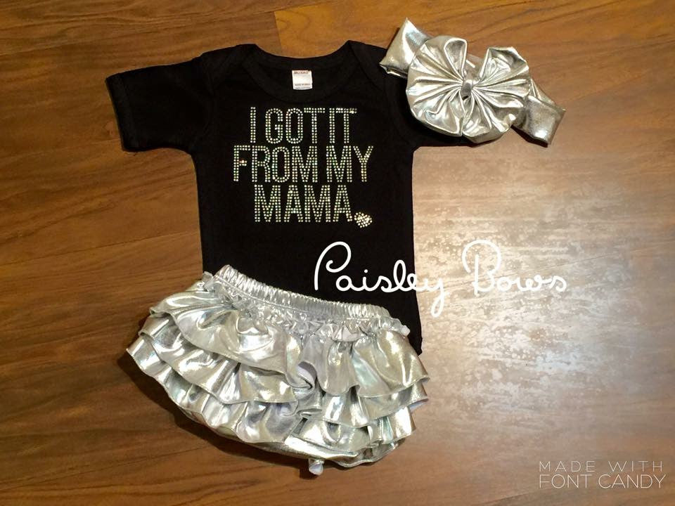 I got it from my Mama - Paisley Bows