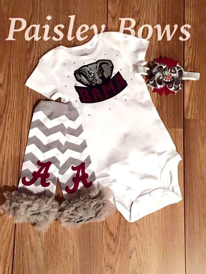 University of Alabama - Paisley Bows