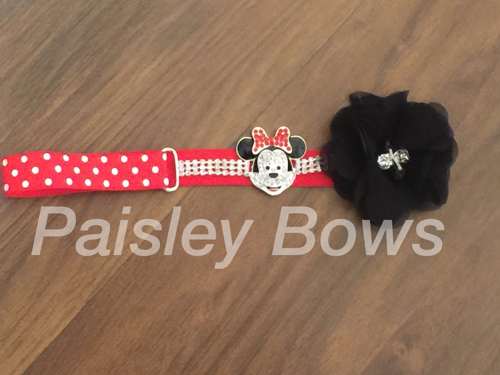 Minnie Mouse Rhinestone Headband - Paisley Bows