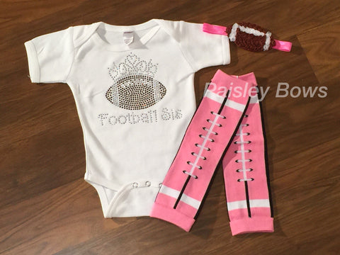 Rhinestone Football Sister Outfit