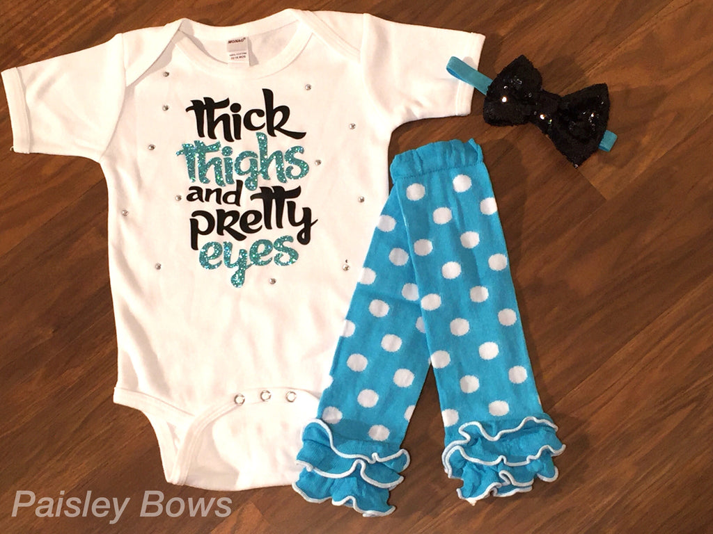 Thick Thighs And Pretty Eyes - Paisley Bows