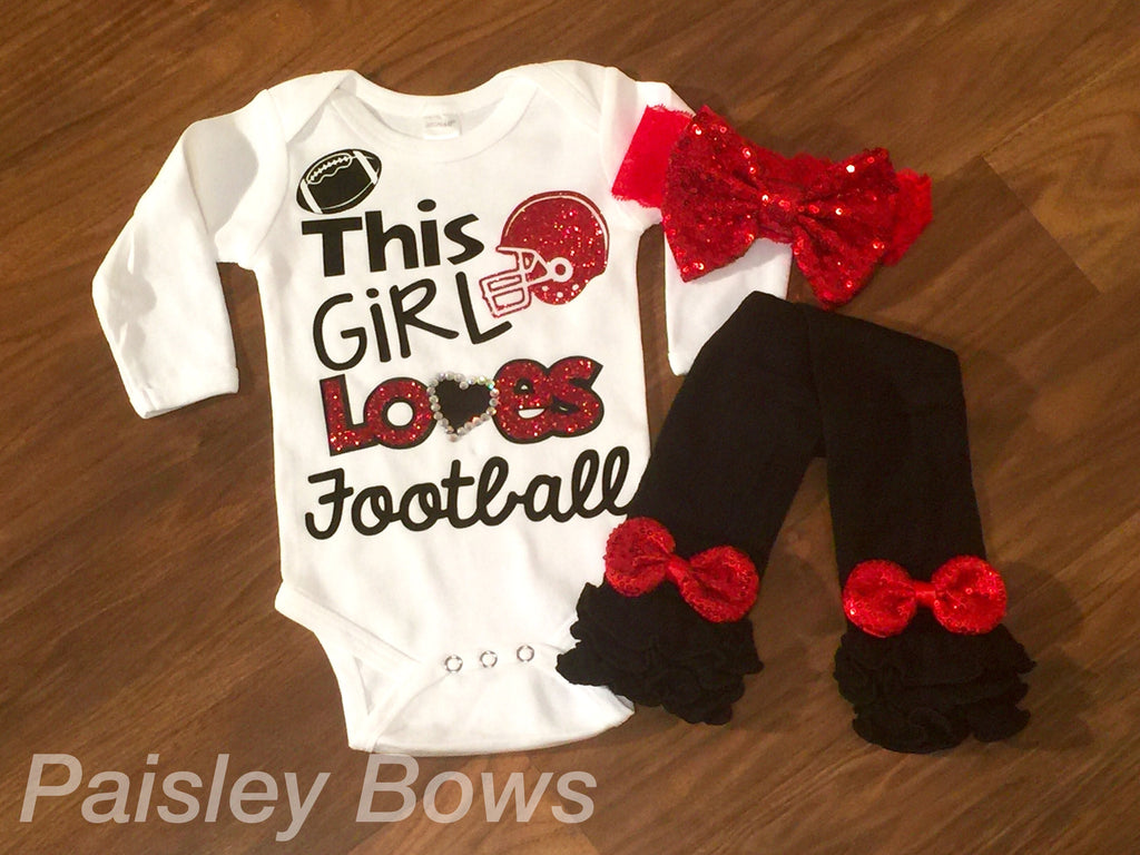 This Girl Loves Football - Paisley Bows