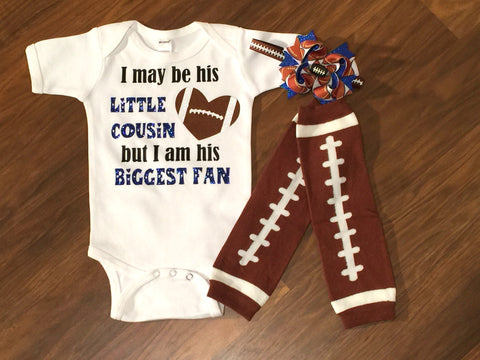 Customizable Football Cousin top or outfit - Paisley Bows