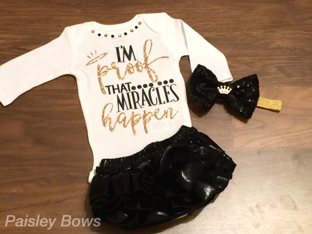 I'm Proof Miracles Happen - Paisley Bows