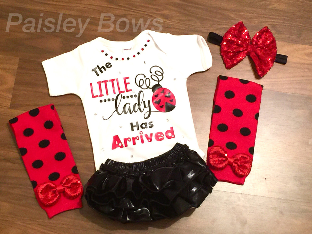 The Little Lady Has Arrived - Paisley Bows
