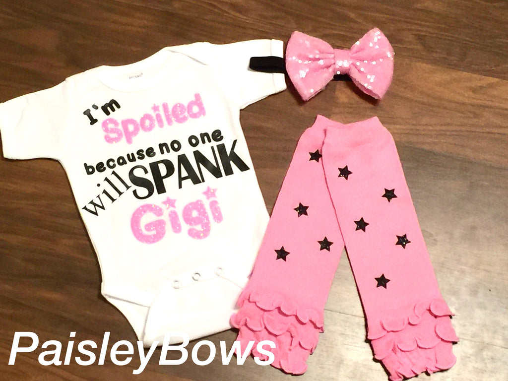 No One Will Spank Gigi - Paisley Bows