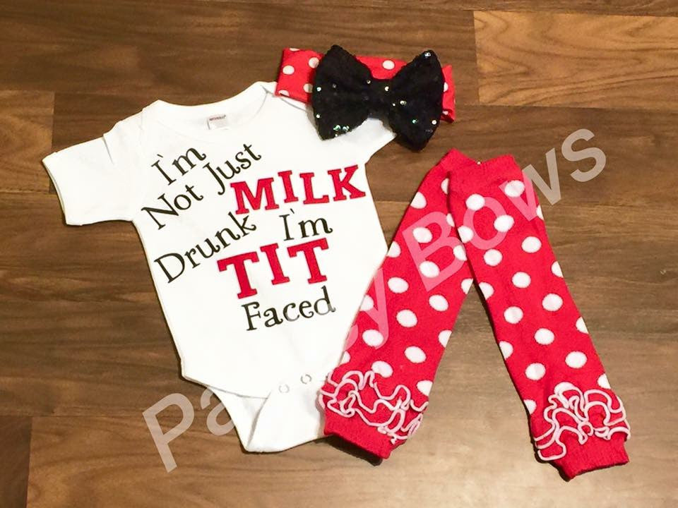 I'm Not Just Milk Drunk - Paisley Bows