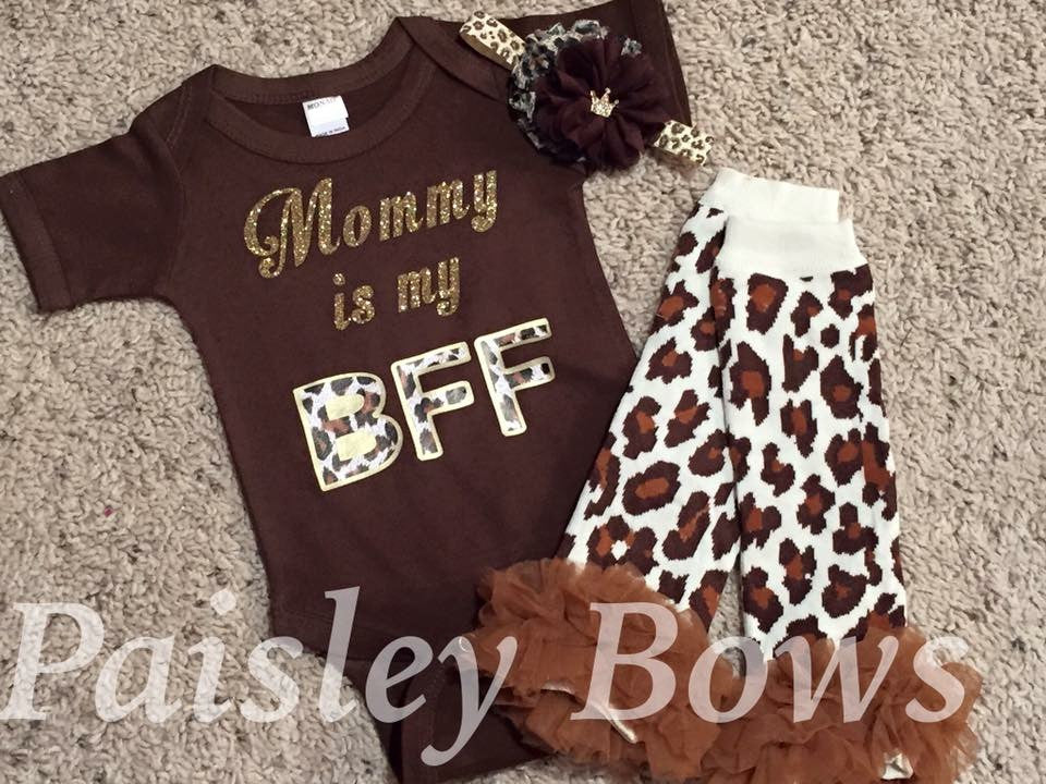 Mommy is my BFF - Paisley Bows