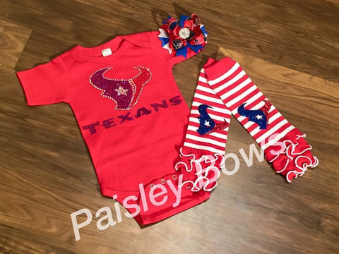 Houston Texans - Paisley Bows