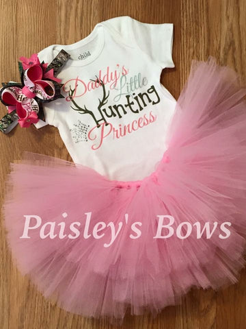 Daddy's Little Hunting Princess - Paisley Bows