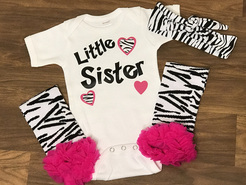 Zebra Little Sister Outfit - Paisley Bows