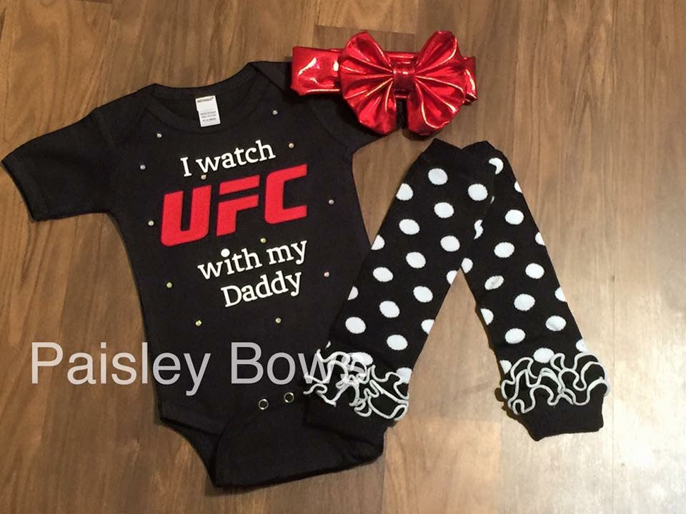 I Watch UFC With My Daddy - Paisley Bows