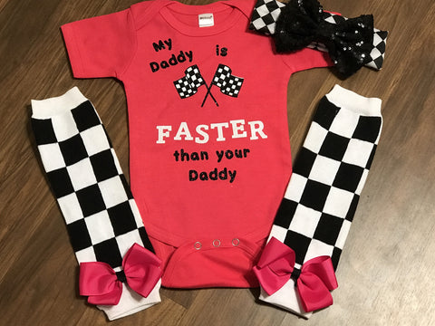 My Daddy Is Faster Than Your Daddy - Paisley Bows