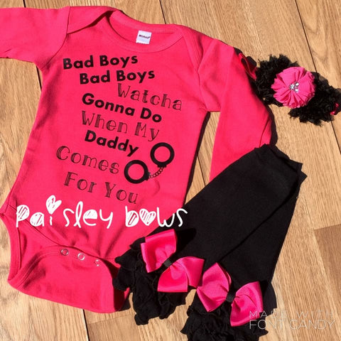 Bad Boys pink and black outfit - Paisley Bows