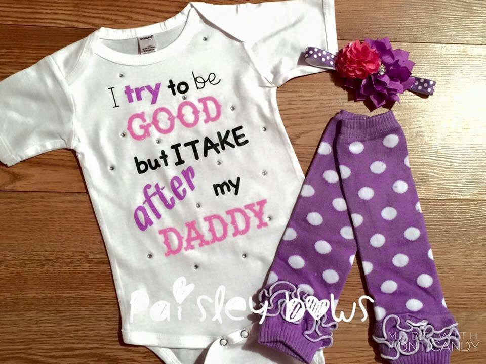 Take after my Daddy - Paisley Bows