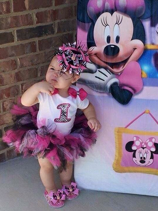 Minnie Mouse 1st Birthday - Paisley Bows