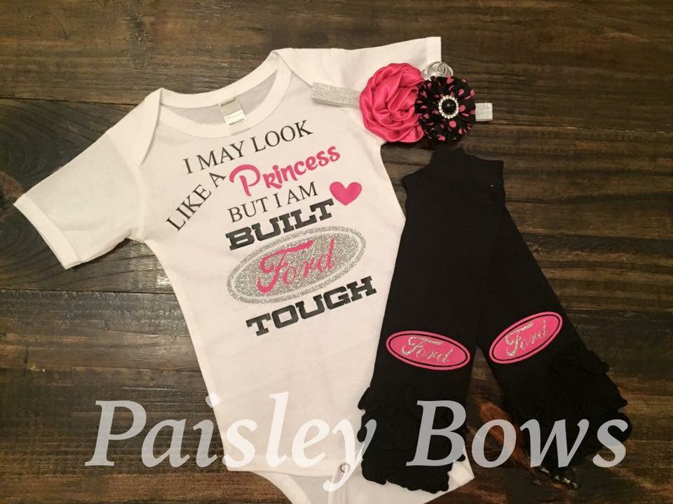 Built Ford Tough - Paisley Bows