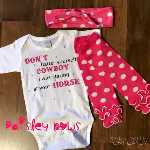 Don't Flatter Yourself Cowboy - Paisley Bows