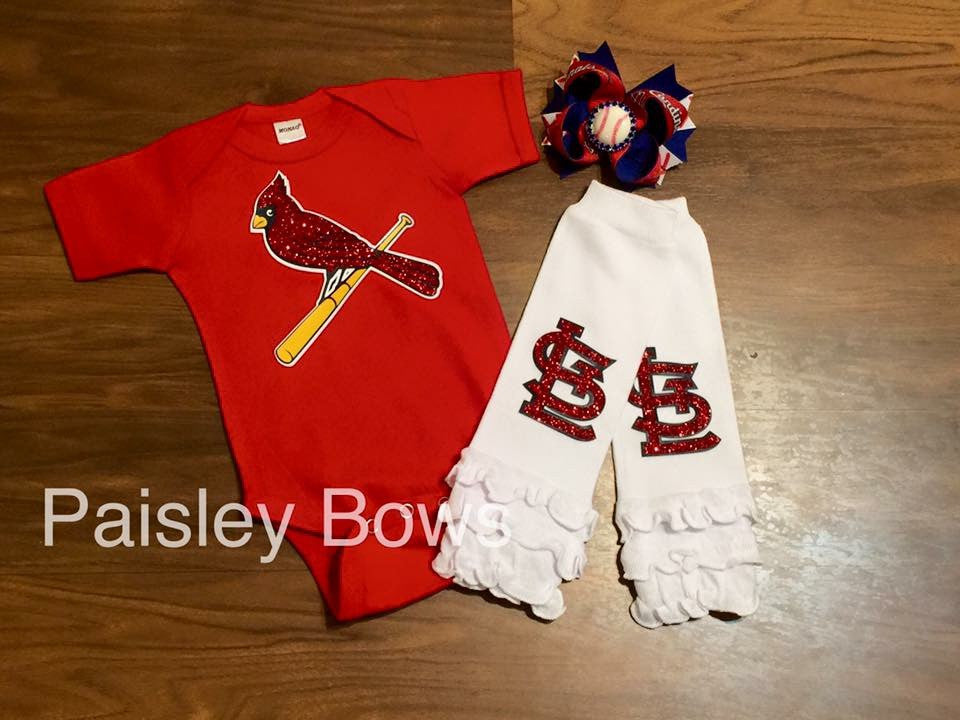 Cardinals Girl - Paisley Bows