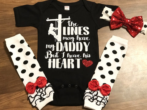 Lineman Daddy - Paisley Bows