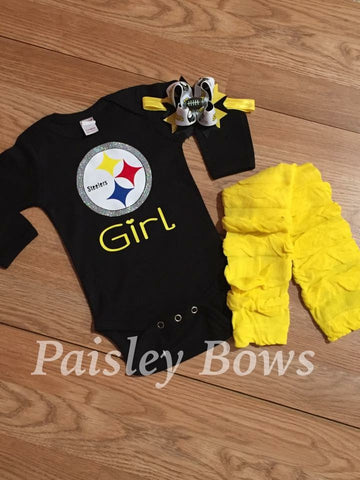 Steelers Girl - Paisley Bows