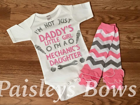 I'm Not Just Daddy's Little Princess Is A Mechanic's Daughter - Paisley Bows