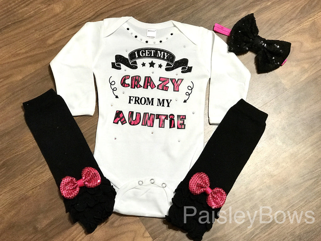 I Get My Crazy From My Auntie - Paisley Bows