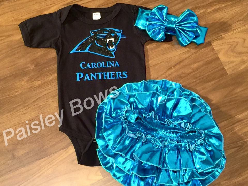 Carolina Panthers - Paisley Bows