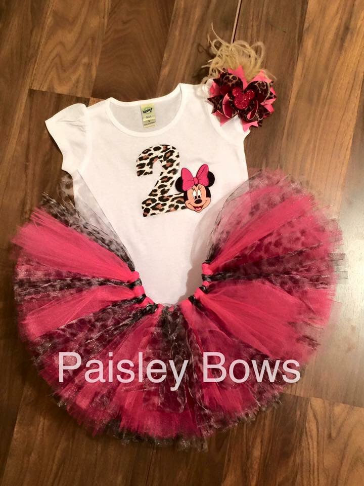 Minnie Mouse 2nd Birthday Tutu Outfit - Paisley Bows