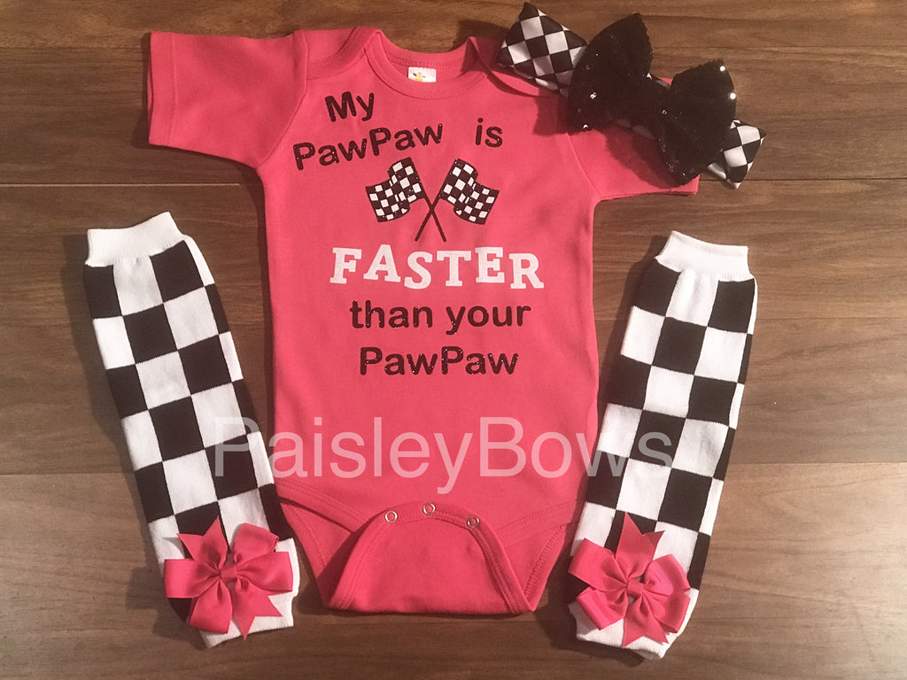 My Pawpaw Is Faster - Paisley Bows
