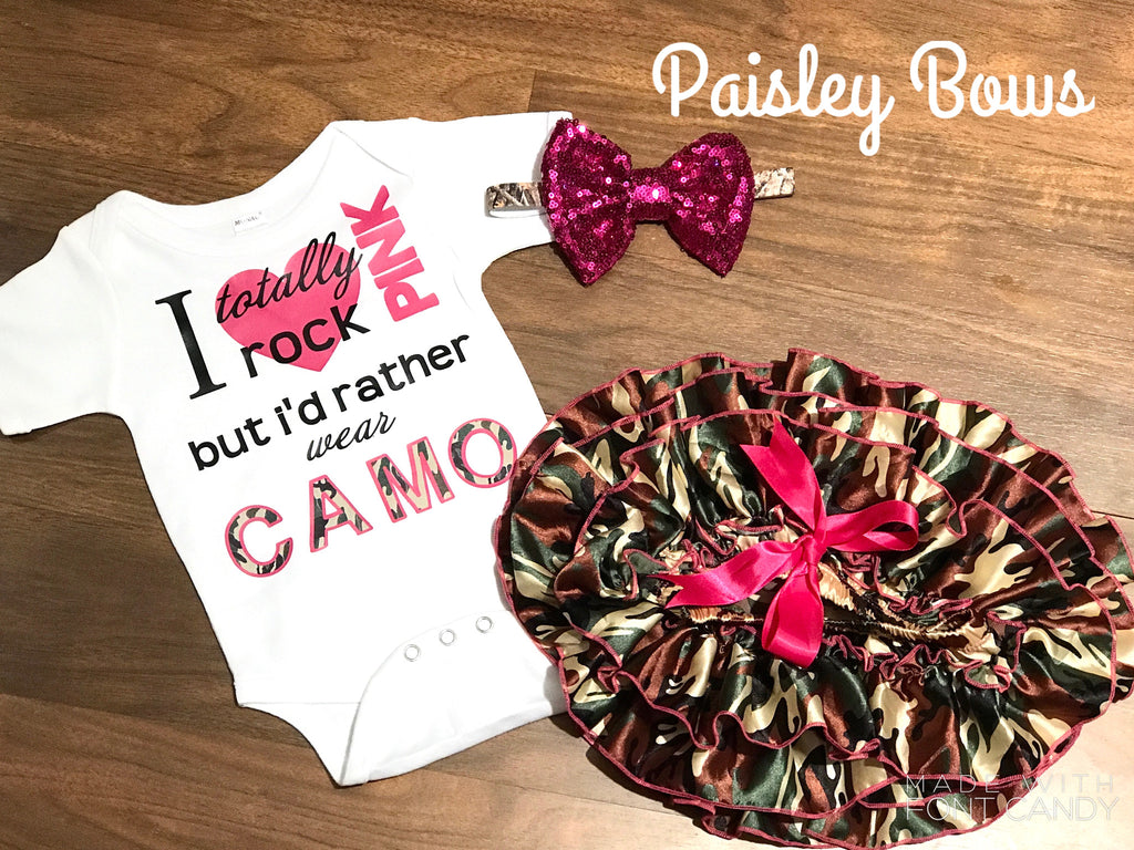 I Totally Rock Pink - Paisley Bows
