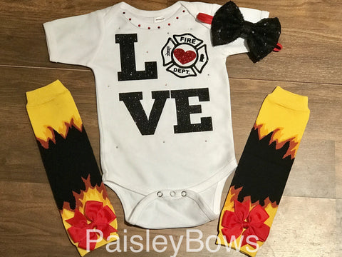 Firefighter Love - Paisley Bows
