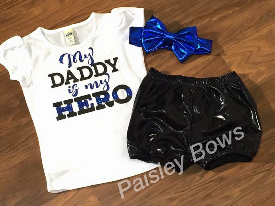 My Daddy is my Hero - Paisley Bows