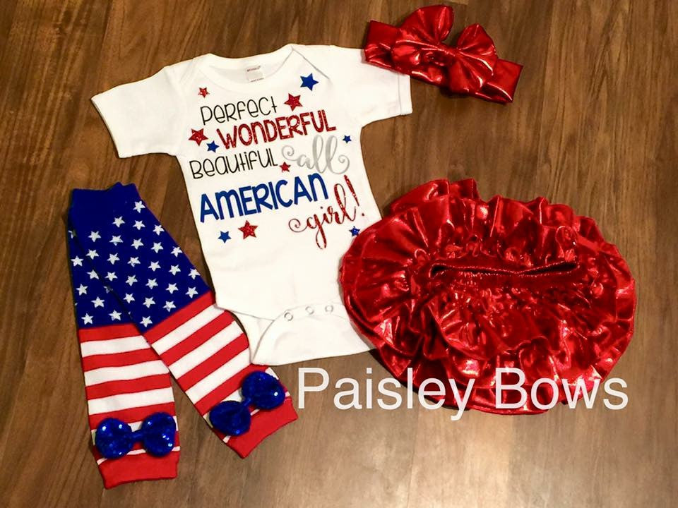 Perfect All American Girl - Paisley Bows