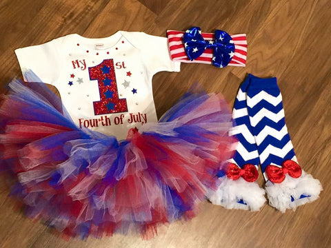 My First Fourth Of July - Paisley Bows
