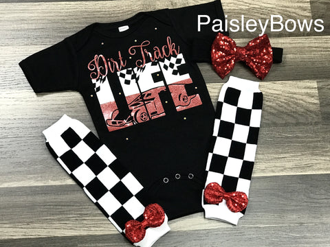 Dirt Track Racing - Paisley Bows