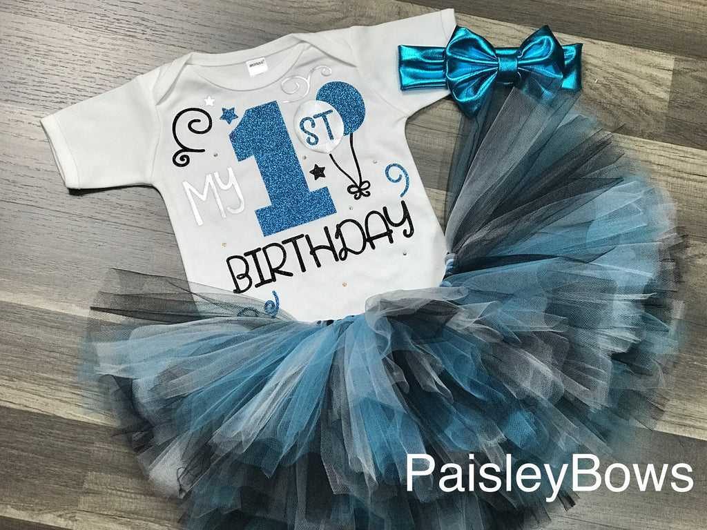 Turquoise 1st Birthday Tutu Outfit