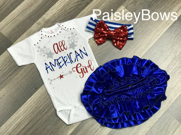 All American Girl - Paisley Bows