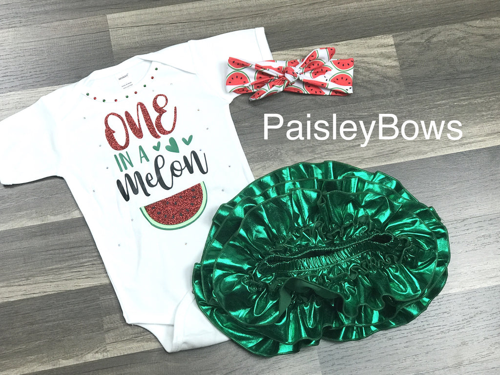 One In A Melon - Paisley Bows