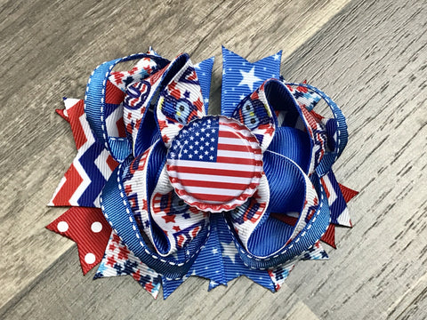 4th of July Bow - Paisley Bows
