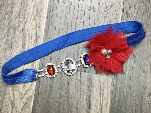 4th of July Rhinestone Headband - Paisley Bows