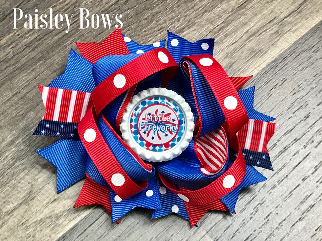 Fourth of July Bow - Paisley Bows