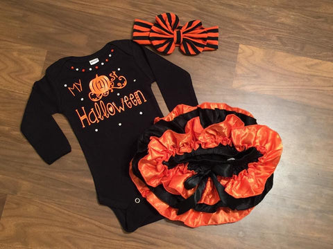 My 1st Halloween - Paisley Bows
