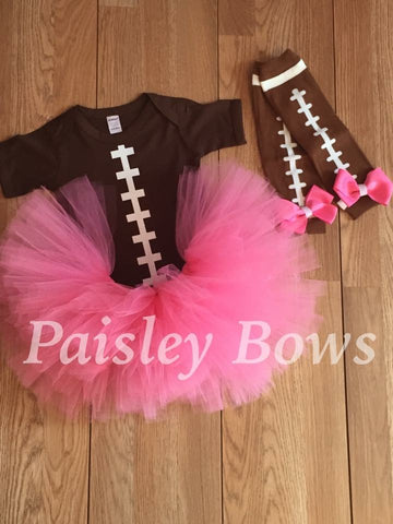 Football Tutu Outfit - Paisley Bows