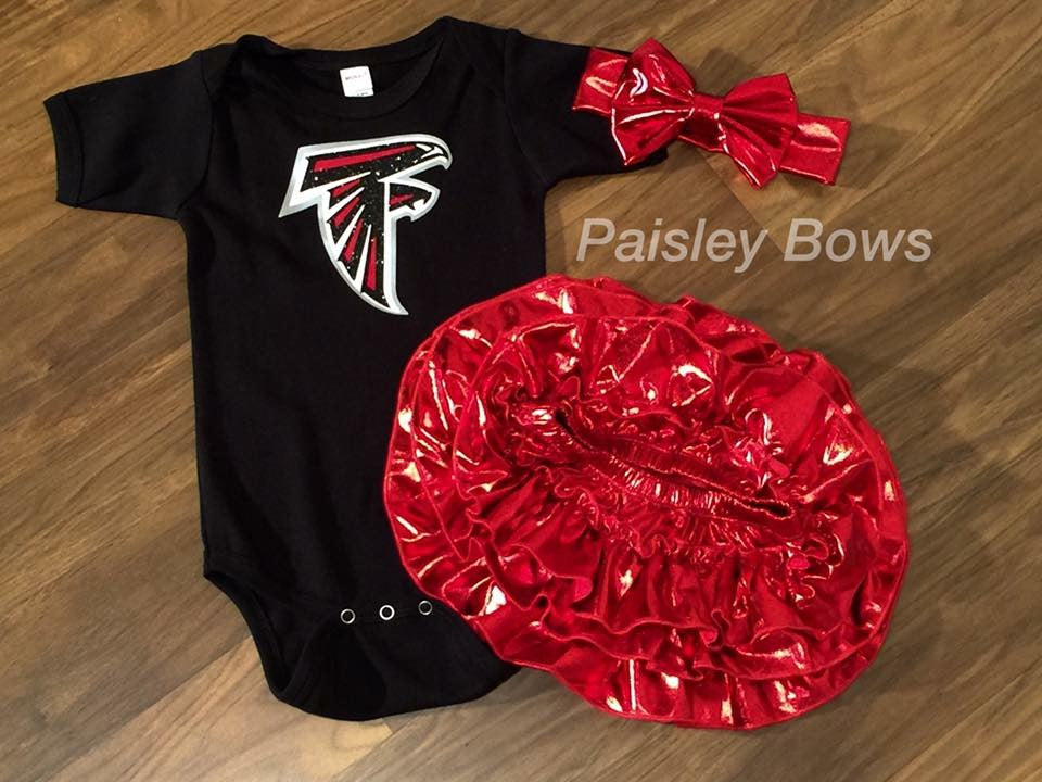 Atlanta Falcons Football - Paisley Bows