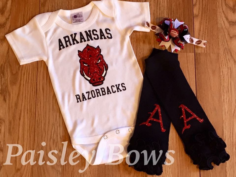 Arkansas Razorbacks - Paisley Bows