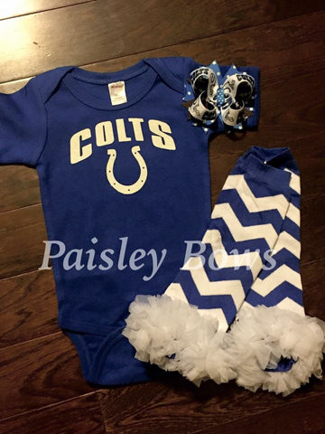 Indianapolis Colts - Paisley Bows