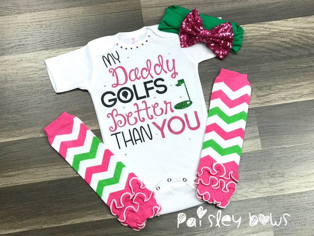 My Daddy Golfs Better Than You - Paisley Bows